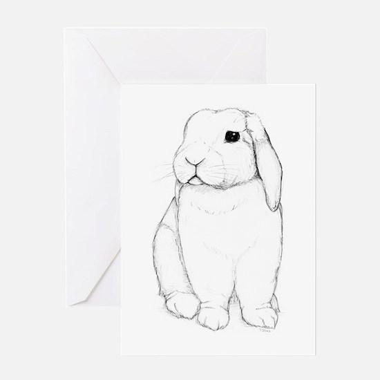 Lop Rabbit Greeting Card