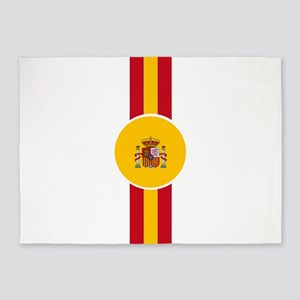 Spaniard Flag Gear 5'x7'Area Rug