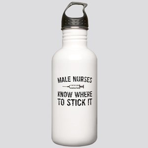 Male Nurses Know Where To Stick It Water Bottle