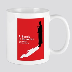 A Study in Scarlet book cover. Mugs