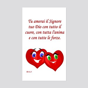Italian Deut 6:5 Rectangle Sticker