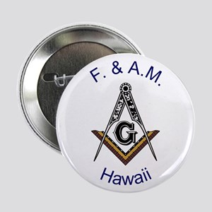 """Hawaii Square and Compass 2.25"""" Button"""