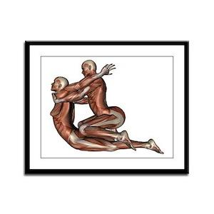 Thai Massage Framed Panel Print