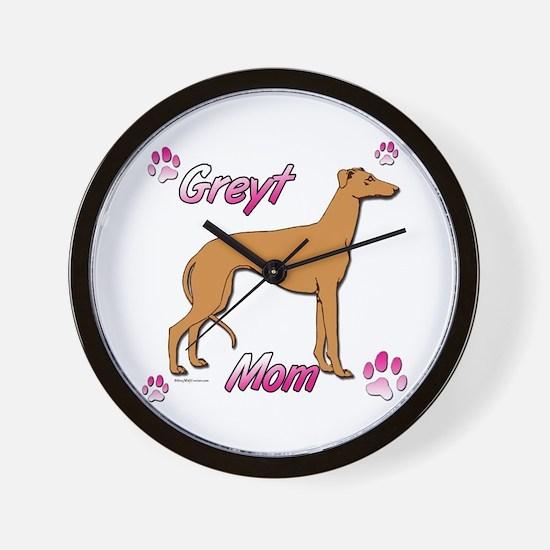 Greyt mom red Wall Clock