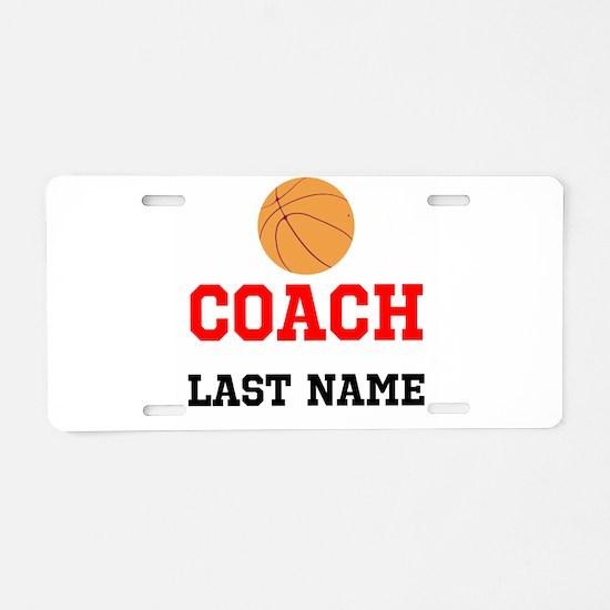 Basketball Coach Aluminum License Plate