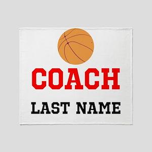 Basketball Coach Throw Blanket