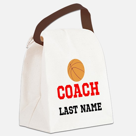 Basketball Coach Canvas Lunch Bag