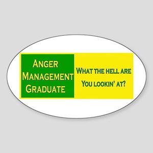 Anger Management Funny Oval Sticker