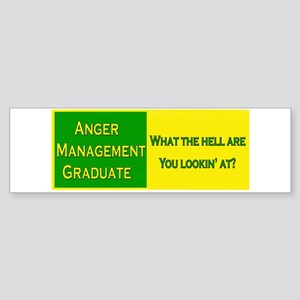 Anger Management Funny Bumper Sticker