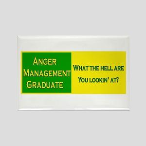 Anger Management Funny Rectangle Magnet
