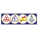 Masonic York Rite Circle Bumper Sticker (50 pk)