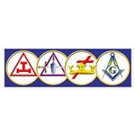 Masonic York Rite Circle Bumper Sticker (10 pk)