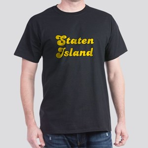Retro Staten Island (Gold) Dark T-Shirt