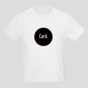 Carli - Pink Circle Kids Light T-Shirt