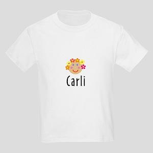 Carli - Flower Girl Head Kids Light T-Shirt