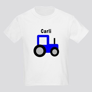 Carli - Blue Tractor Kids Light T-Shirt