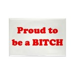 Proud to be a BIOTCH Rectangle Magnet (10 pack)