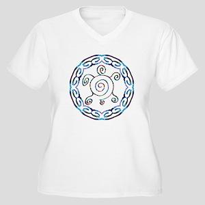 Spiral Turtles Women's Plus Size V-Neck T-Shirt