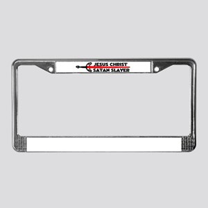 SATAN SLAYER License Plate Frame