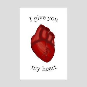 Human Heart Mini Poster Print
