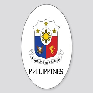 Philippines Coat of Arms Oval Sticker