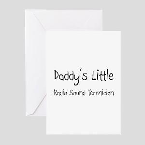 Daddy's Little Radio Sound Technician Greeting Car