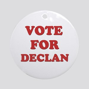 Vote for DECLAN Ornament (Round)