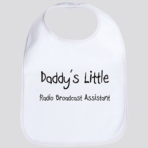 Daddy's Little Radio Broadcast Assistant Bib