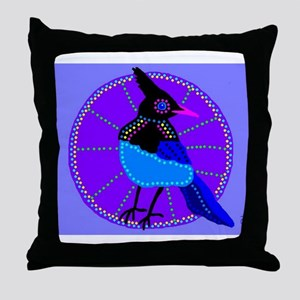 Stellers Jay Throw Pillow