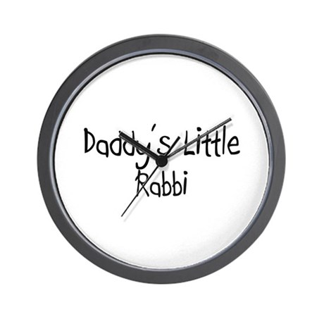 Daddy's Little Rabbi Wall Clock