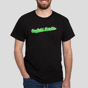 Retro Garfield Hei.. (Green) Dark T-Shirt