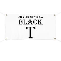 Black T Banner