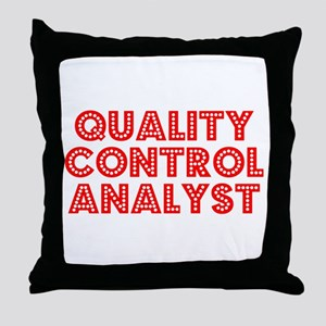 Retro Quality Con.. (Red) Throw Pillow