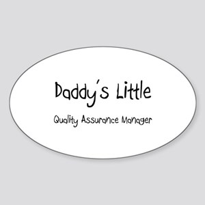 Daddy's Little Quality Assurance Manager Sticker (