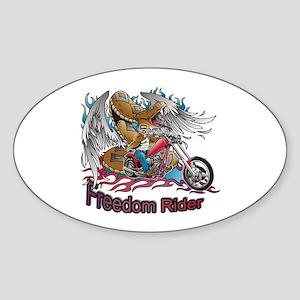 Freedom Rider Oval Sticker