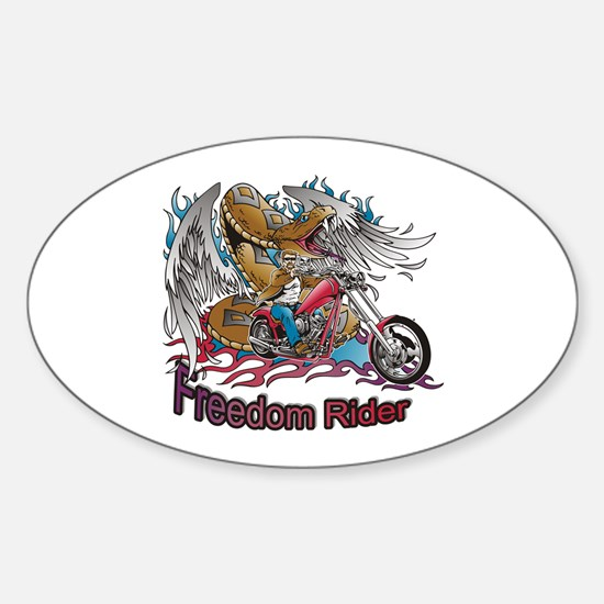 Freedom Rider Oval Decal