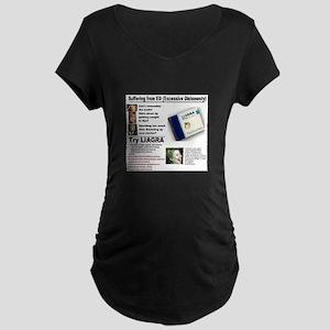 Liagra (Anti-Hillary) Maternity Dark T-Shirt