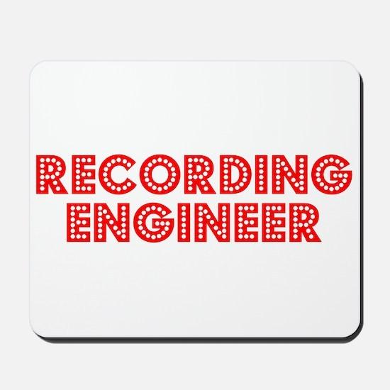 Retro Recording e.. (Red) Mousepad