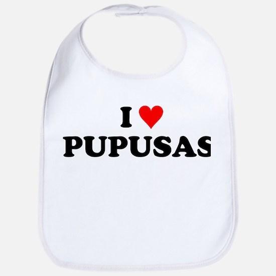 I Love Pupusas Bib