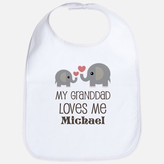 Granddad Loves Me Personalized Baby Bib
