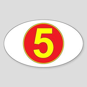 Mach 5 Oval Sticker