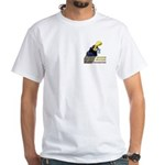 Woodie-Hoodie Pocket White T-Shirt