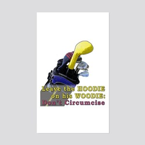 Woodie-Hoodie Rectangle Sticker