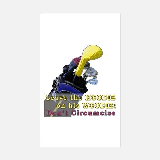 Woodie-Hoodie Rectangle Decal