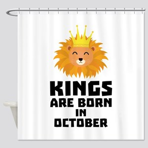 Kings are born in OCTOBER Czx1p Shower Curtain