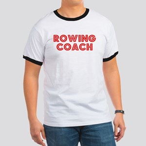 Retro Rowing Coach (Red) Ringer T