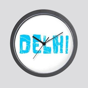 Delhi Faded (Blue) Wall Clock