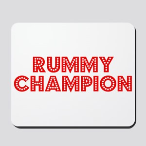 Retro Rummy Champ.. (Red) Mousepad