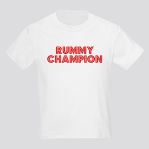 Retro Rummy Champ.. (Red) Kids Light T-Shirt