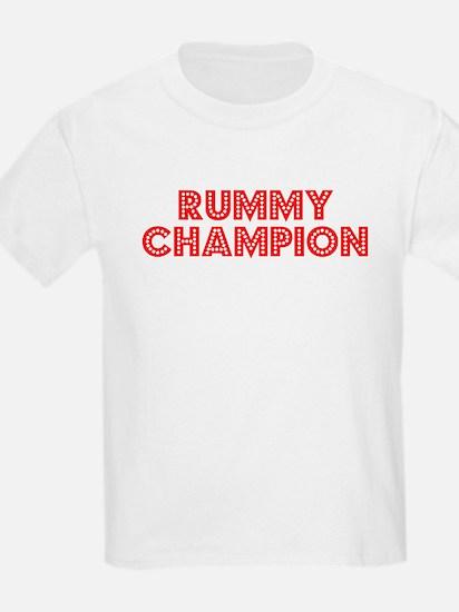 Retro Rummy Champ.. (Red) T-Shirt